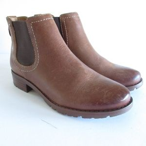 Sofft Ankle Booties Leather Pull On Boots